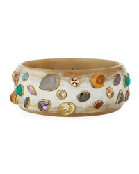 Ashley Pittman Urujuani Light Horn Bangle Bracelet Multi