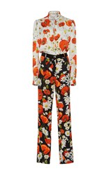Alexis Mabille Multi Floral Jumpsuit White