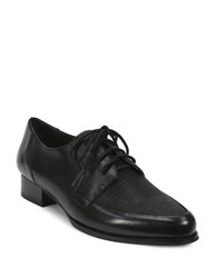 Tahari Leeza Leather Oxfords Black
