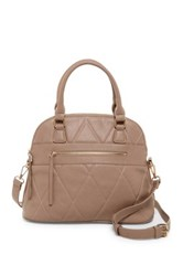 Urban Expressions Duke Vegan Leather Dome Satchel Beige