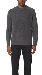 Vince Boiled Cashmere Crew Sweater H. Carbon