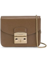 Furla Chain Strap Crossbody Bag Brown