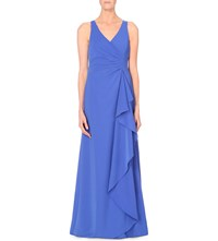 Armani Collezioni Waterfall Jersey Gown Blue