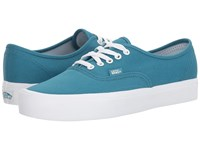 Vans Authentic Lite Canvas Larkspur True White Skate Shoes Blue