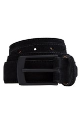 Bugatchi Men's Suede Belt Nero
