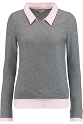 Joie Rika Waffle Knit Wool And Cashmere Blend Sweater Gray