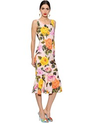 Dolce And Gabbana Roses Print Cady Dress