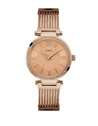 Guess U0638l4 Rose Golden Stainless Steel Watch