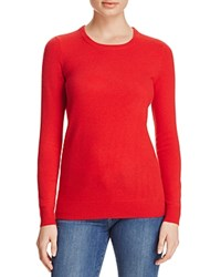 Bloomingdale's C By Crewneck Cashmere Sweater Cherry