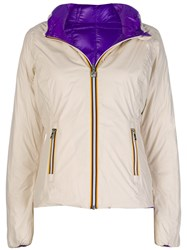 K Way Lily Padded Jacket Nude And Neutrals