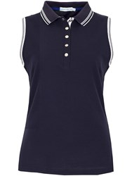 Green Lamb Cory Sleeveless Club Polo Navy