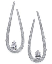 Danori Silver Tone Cubic Zirconia Drop Earrings Only At Macy's