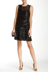 Juicy Couture Diamond Beaded Tulle Dress Black