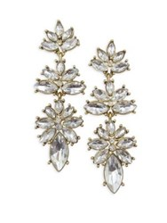 Belle By Badgley Mischka Occasion Crystal Linear Drop Earrings Gold