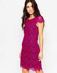 Traffic People Neverending Story Lace Dress With Cap Sleeves Purple