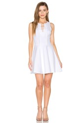 Eight Sixty Sleeveless Lace Up Mini Dress White