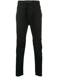 The Viridi Anne Slim Pocket Detail Trousers Black