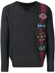 Frankie Morello Patch Embellished Sweater Grey