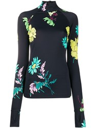 Paul Smith Floral Print Roll Neck Top 60