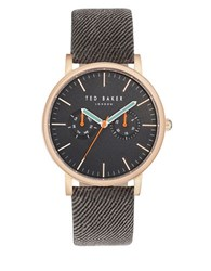 Ted Baker Brit Leather Band Watch Grey