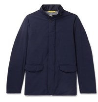 Canali Water Repellent Shell Jacket Navy