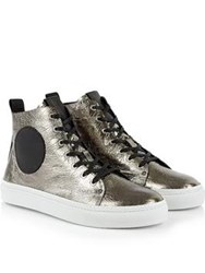 Mcq By Alexander Mcqueen Chris High Top Trainers Silver