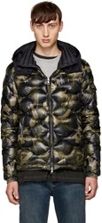 Moncler Green Camo Down Morandieres Jacket