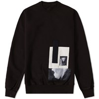 Rick Owens Drkshdw Embroided Logo Crew Sweat Black