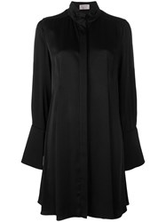 Lanvin Collarless Shirt Dress Black