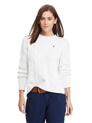 Polo Ralph Lauren Boxy Cable Knit Jumper White