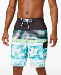 Speedo Men's Striped And Floral Board Shorts 10 Columbia
