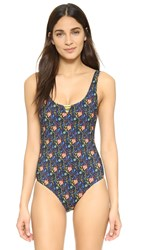 Basta Surf Mokiki Reversible One Piece Black Floral