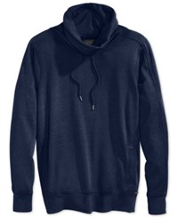 Guess Claxton Funnel Neck Heathered Sweatshirt Cobalt