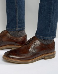Base London Turner Leather Brogue Shoes Brown