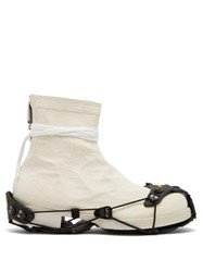 1017 Alyx 9Sm Detachable Sole Coated Boots Cream