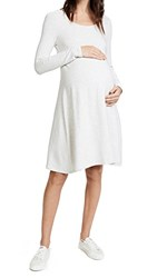 Ingrid And Isabel Trapeze Sweatshirt Dress Light Oatmeal Heather
