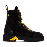 Off White Black And Yellow Hiking Boots