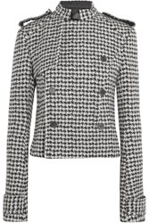 Haider Ackermann Double Breasted Houndstooth Wool Blend Jacket Black