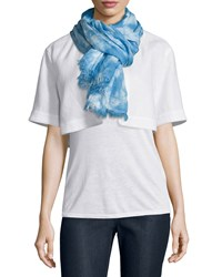 Marbleized Hues Flax Scarf Ice Water Multi Ice Water Multi Lafayette 148 New York