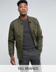 Selected Homme Tall Padded Coach Jacket Forest Night Green