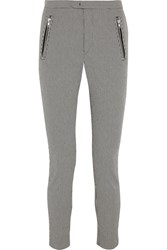 Etoile Isabel Marant Rhett Houndstooth Cotton Blend Skinny Pants Gray