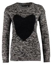 Fresh Made Jumper Black Winter Cream