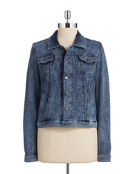 Marc New York Performance Acid Wash Denim Jacket Navy