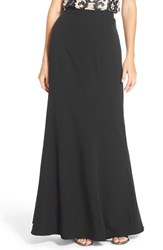 Women's Adrianna Papell Crepe A Line Maxi Skirt Black
