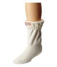 Hunter 6 Stitch Cable Boot Sock Short Natural White Women's Crew Cut Socks Shoes Beige