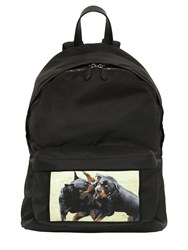 Givenchy Rottweilr Printed Patch Nylon Backpack