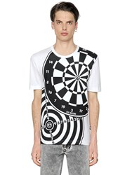 Love Moschino Dart Board Printed Cotton Jersey T Shirt