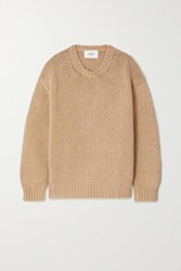 Bassike Cotton And Merino Wool Blend Sweater Tan
