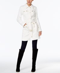 Inc International Concepts Belted Walker Coat Only At Macy's Washed White