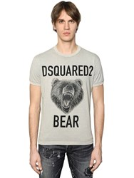 Dsquared Bear Printed Cotton Jersey T Shirt